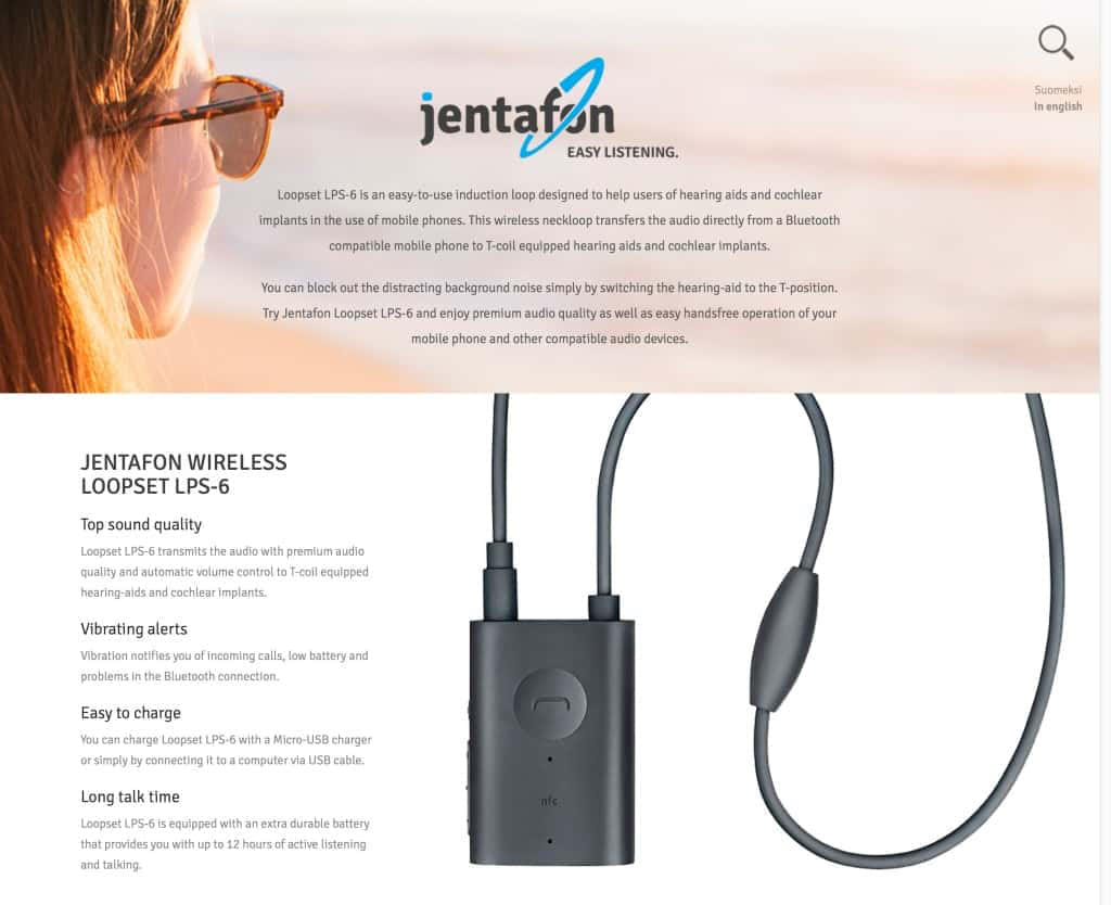 Jentafon - Wireless Loopset for hard of hearing